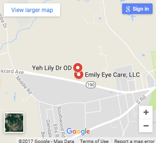 Emily Eye Care map